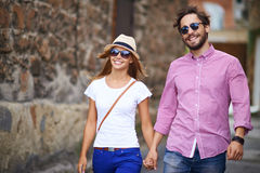 Amorous tourists Royalty Free Stock Photos