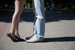 Amorous young couple royalty free stock photo