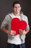 Amorous young man Stock Image