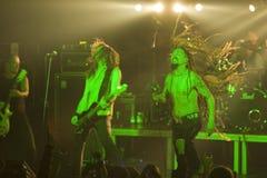 Amorphis exécute sur l'étape au club diesel Image stock