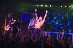 Amorphis exécute sur l'étape au club diesel Photos libres de droits