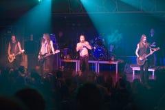Amorphis exécute sur l'étape au club diesel Photo libre de droits