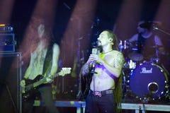 Amorphis exécute sur l'étape au club diesel Images libres de droits
