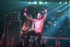 Amorphis exécute sur l'étape au club diesel Photographie stock