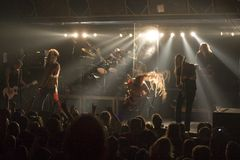 Amorphis performs on stage at Diesel club Royalty Free Stock Photo
