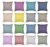 Amortece a opinião superior das cores diferentes isolada fotografia de stock