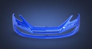 Amortecedor dianteiro do carro em escuro - fundo azul 3d do inclinação ilustração do vetor