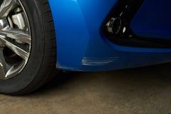Amortecedor riscado do carro Fotografia de Stock Royalty Free