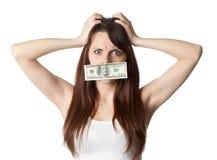 Amorti par l'argent Photo stock
