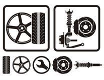 Amortiguador del neumático de los bordes libre illustration