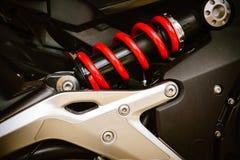 Amortiguadores de choque de la motocicleta Imagen de archivo