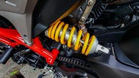 Amortiguadores de choque de la motocicleta Fotografía de archivo libre de regalías