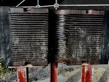 Amortiguadores de choque para los puentes de terremotos, esta muestra para puente Golden Gate Imagen de archivo libre de regalías