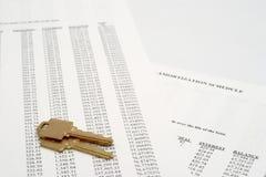 Amortissement comptable avec des clés Photographie stock