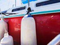 Amortisseur à bord de bateau de yacht Photo libre de droits