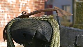 Amortisseur à l'arc d'un bateau, bateau Photographie stock
