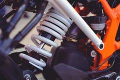 Amortisseur arrière pour une moto de sports Photos stock