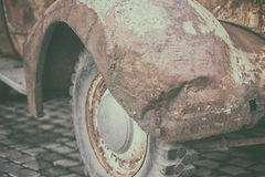 Amortisseur avant d'une voiture de vintage Photo stock