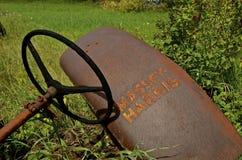 Amortisseur de tracteur de Massey Harris et volant Images libres de droits