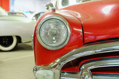 Amortisseur et capot de vieille voiture Photo stock
