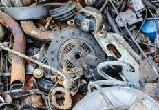 Amortisseur inutile et rouillé de disques de frein et d'autres pièces Photos stock