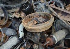 Amortisseur inutile et rouillé de disques de frein et d'autres pièces Photo libre de droits