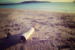 Amortisseur sur la plage Images libres de droits