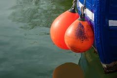 Amortisseur sur un bateau Photographie stock libre de droits