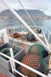 Amortisseurs de chalutier de pêche Photos stock