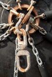 Amortisseurs en caoutchouc pour des bateaux Photos stock
