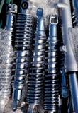 Amortisseurs en chrome d'argent d'acier inoxydable Photos libres de droits