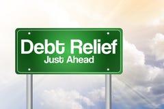 Amortização da dívida, apenas adiante sinal de estrada verde ilustração royalty free
