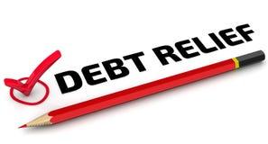 Amortização da dívida A marca de verificação ilustração do vetor