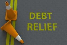 Amortização da dívida, mensagem na estrada ilustração royalty free