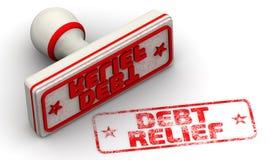 Amortização da dívida Selo e impressão ilustração do vetor