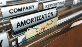 Amortization Schedule Royalty Free Stock Photography