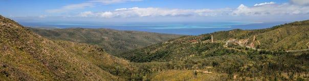 ` Amos, nord för sänka D av stora Terre, Nya Kaledonien, Oceanien arkivfoto