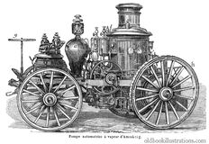 Amoskeag Steam-Powered Fire Engine stock photo