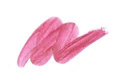 Amostra cor-de-rosa do batom fotografia de stock royalty free