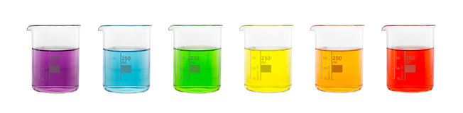 Amostra da solução na taça de vidro Imagem de Stock