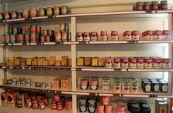Amostra de alimento na mercearia, Strawbery histórico Banke, New Hampshire, 2017 Imagens de Stock