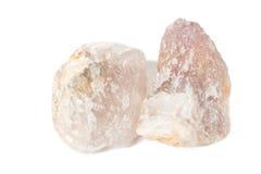 Amostra de cristal mineral da fluorite para a ciência e a geologia imagens de stock