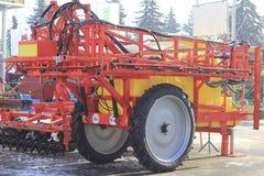 Amostra de maquinaria agrícola na exposição agrícola Foto de Stock Royalty Free