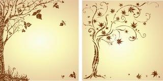 Amostra de projeto com árvore decorativa Fotografia de Stock Royalty Free