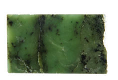 A amostra de um nephrite Fotografia de Stock Royalty Free
