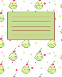 Amostra do convite do cartão da tampa do caderno da escola Foto de Stock