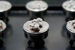 Amostra do microscópio de elétron da exploração imagem de stock
