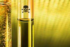 Amostra do posion de Novichok no tubo de vidro Imagens de Stock