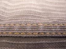 Amostra do textie da textura da sarja de Nimes das calças de brim Foto de Stock Royalty Free