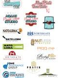 Amostra Logo Set 5 Ilustração Stock